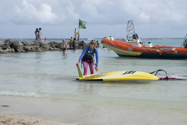 Sarah Hébert en Guadeloupe