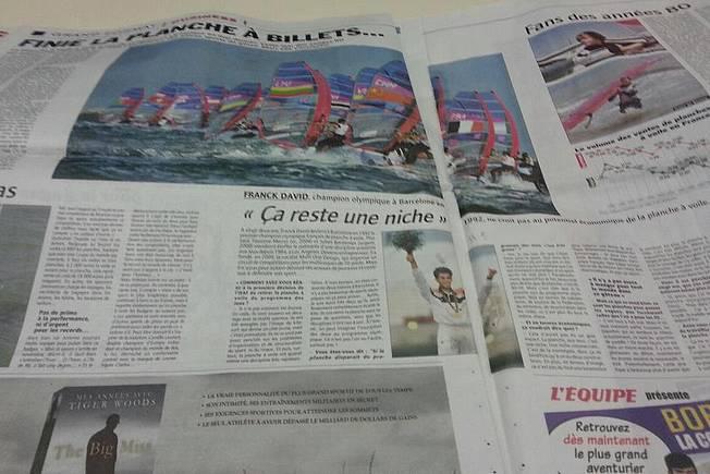Du windsurf dans L\'Equipe