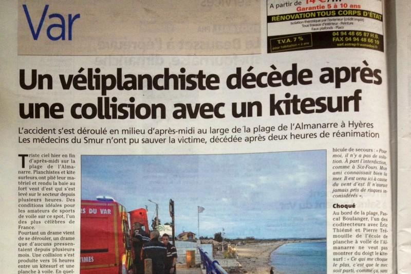 Collision mortelle à Hyères