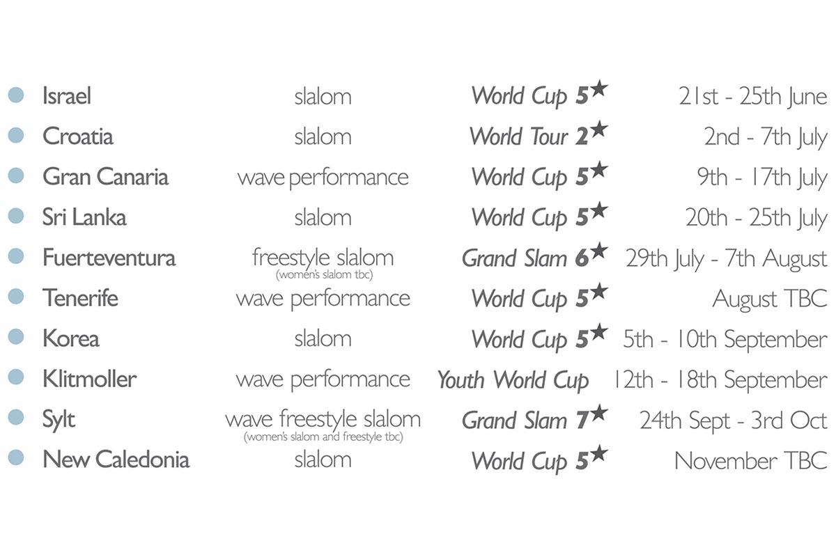 Un calendrier PWA 2021 très provisoire