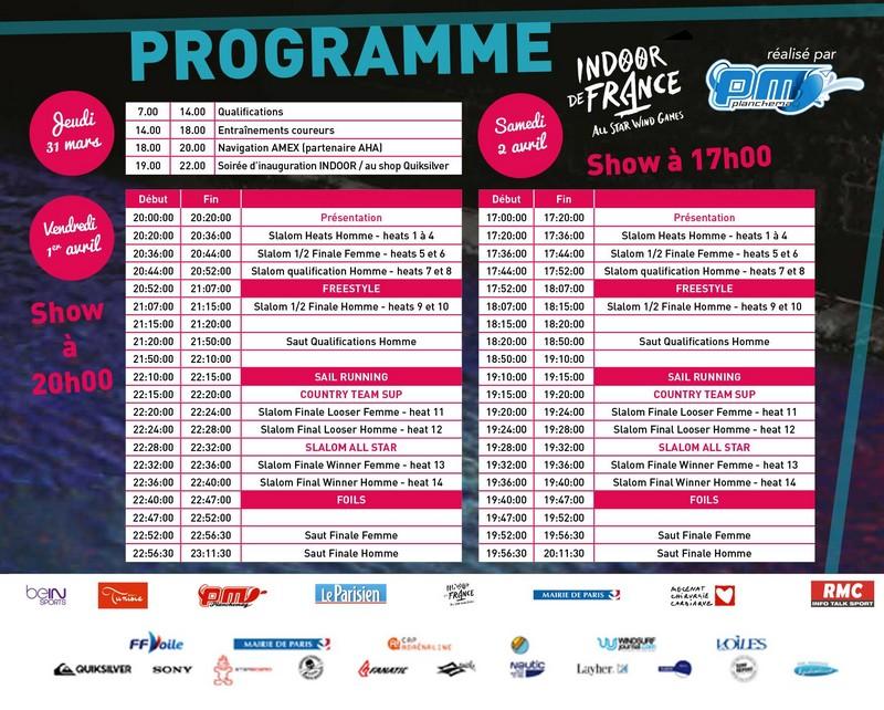 Indoor de France : Le programme officiel !