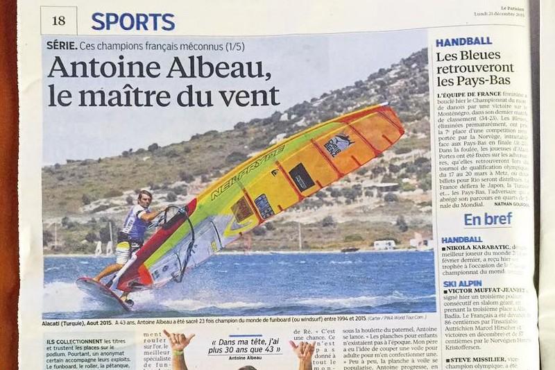 Médias : Antoine Albeau dans Le Parisien