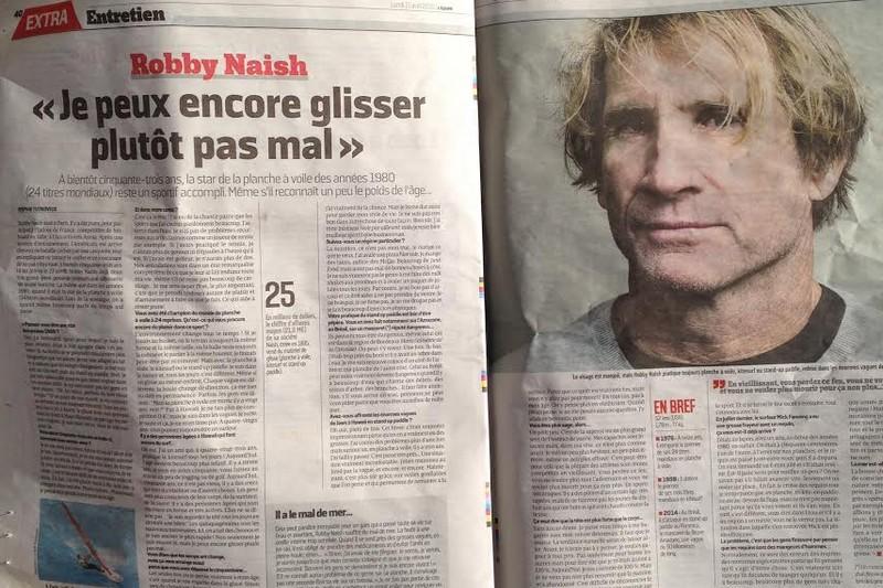 Médias : Robby Naish dans L'Equipe