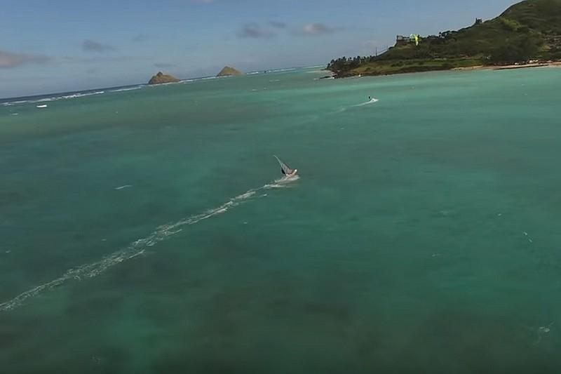 Vidéo : Un drone à Kailua