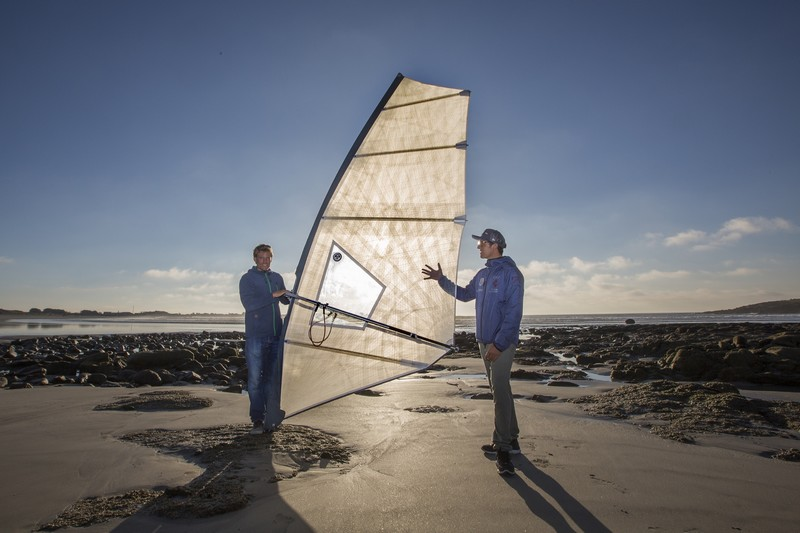 Une voile de vagues moulée en test chez North Sails