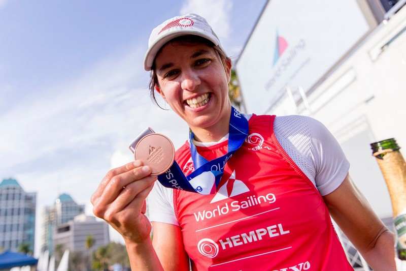 Charline Picon et Pierre Le Coq en bronze à Miami
