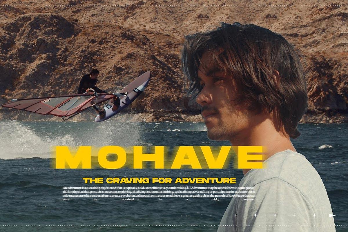 Alex Mertens sur le lac Mohave