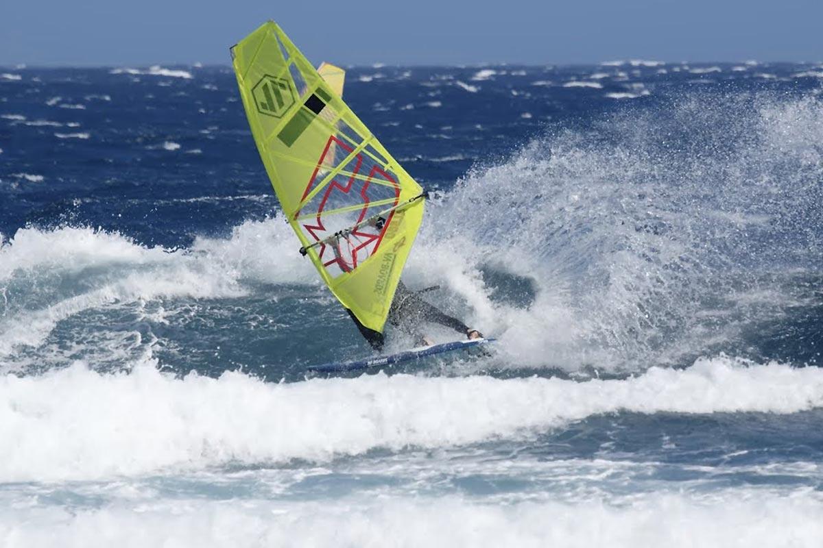 Alex Mussolini en action à Tenerife
