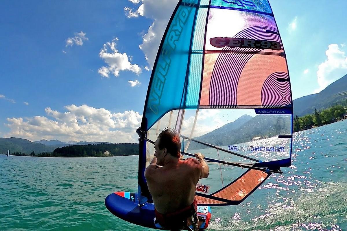 Andy Laufer en foil à Walchensee