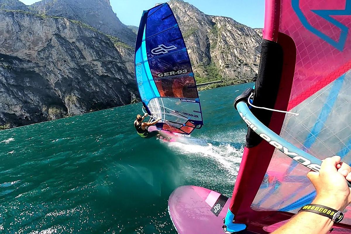 Une session avec Andy Laufer sur le lac de Garde