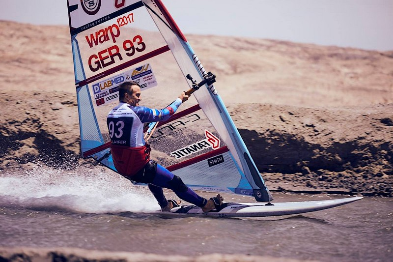 Andy Laufer en action sur le Lüderitz Speed Challenge