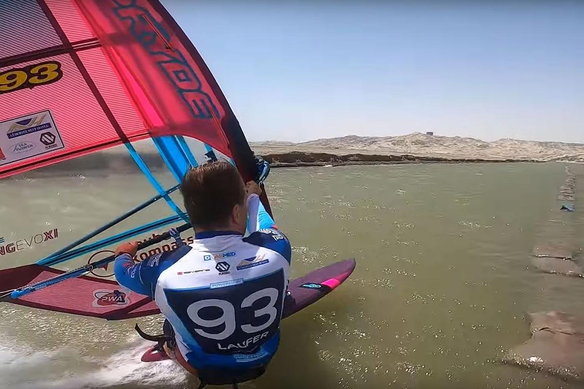 Andy Laufer sur le canal du Lüderitz Speed Challenge