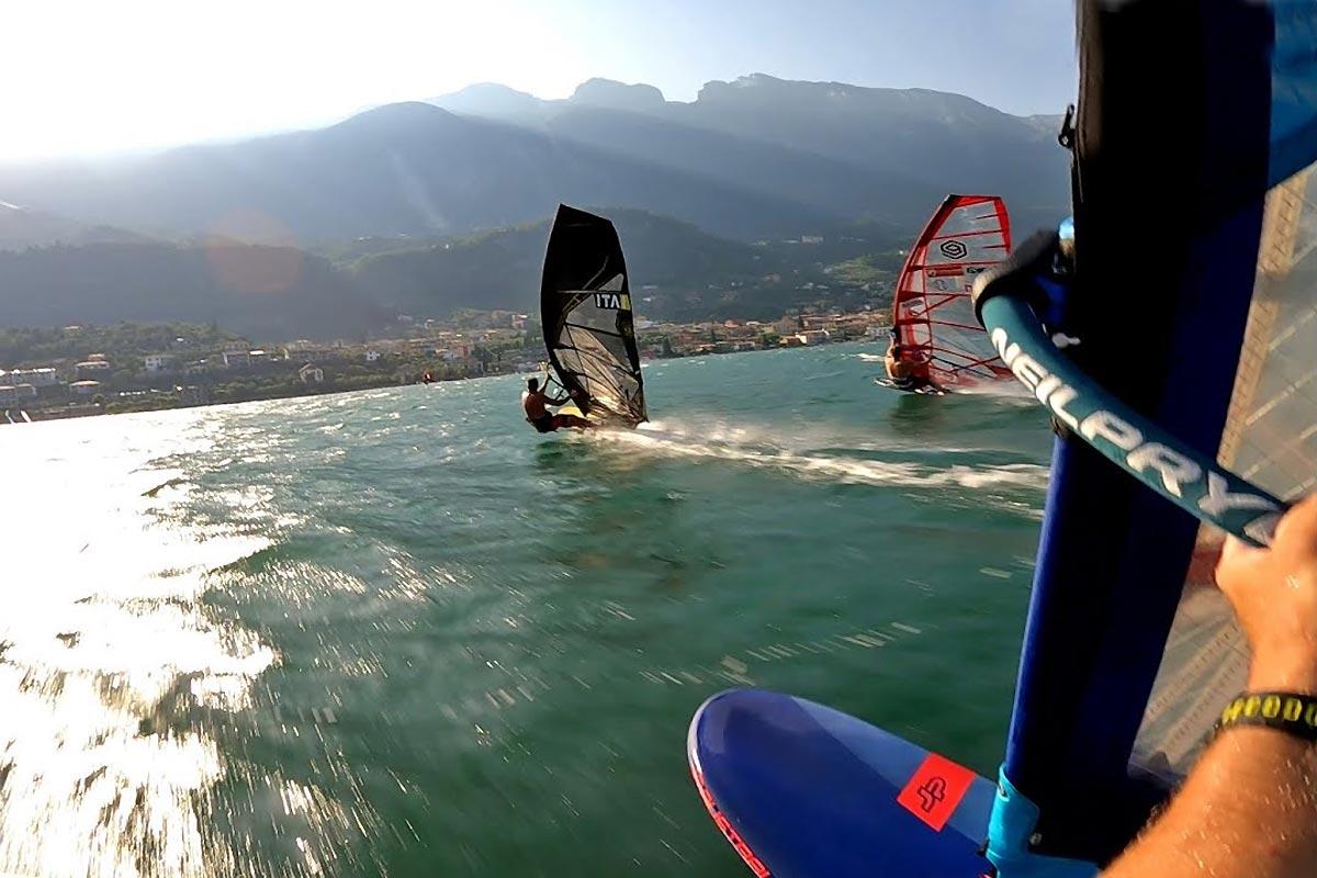 De bonnes sessions en slalom avec Andy Laufer