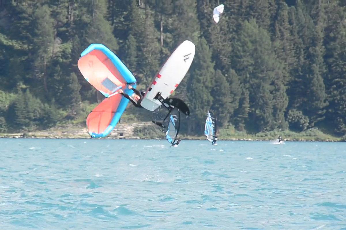 Quand Balz Müller découvre le wingsurf !