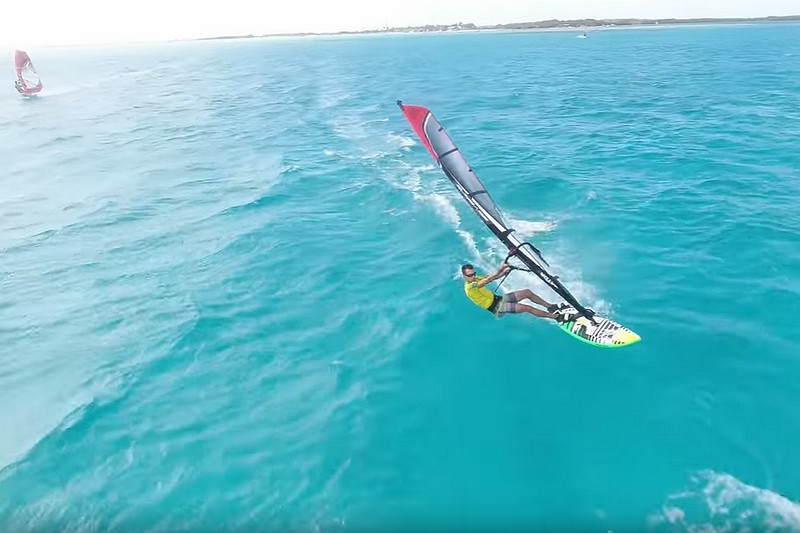Beautiful Bonaire Windsurfing