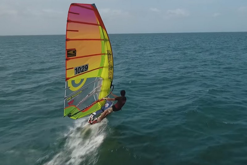 Chase of the windsurfer