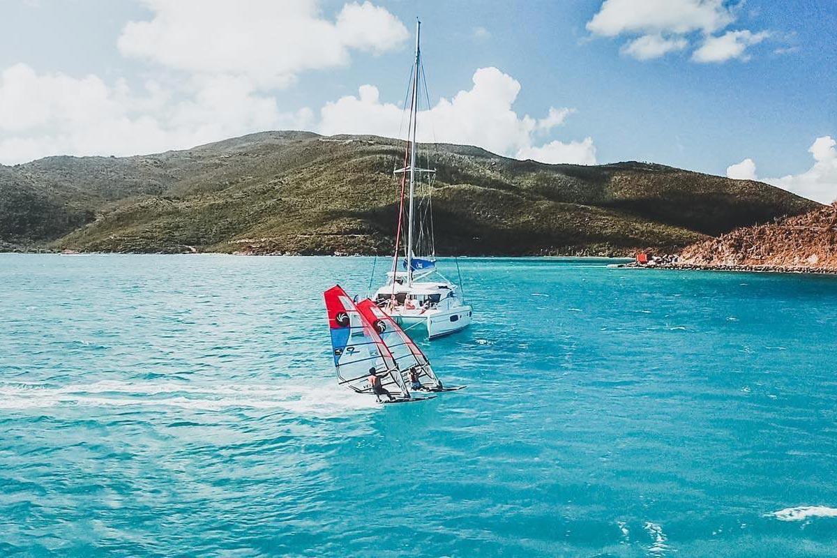 Delphine Cousin et Antoine Questel dans les Îles Vierges