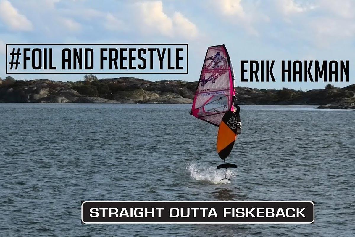 Erik Hakman en foil freestyle
