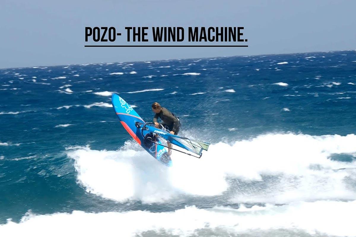 Florian Jung dans la machine à vent de Pozo