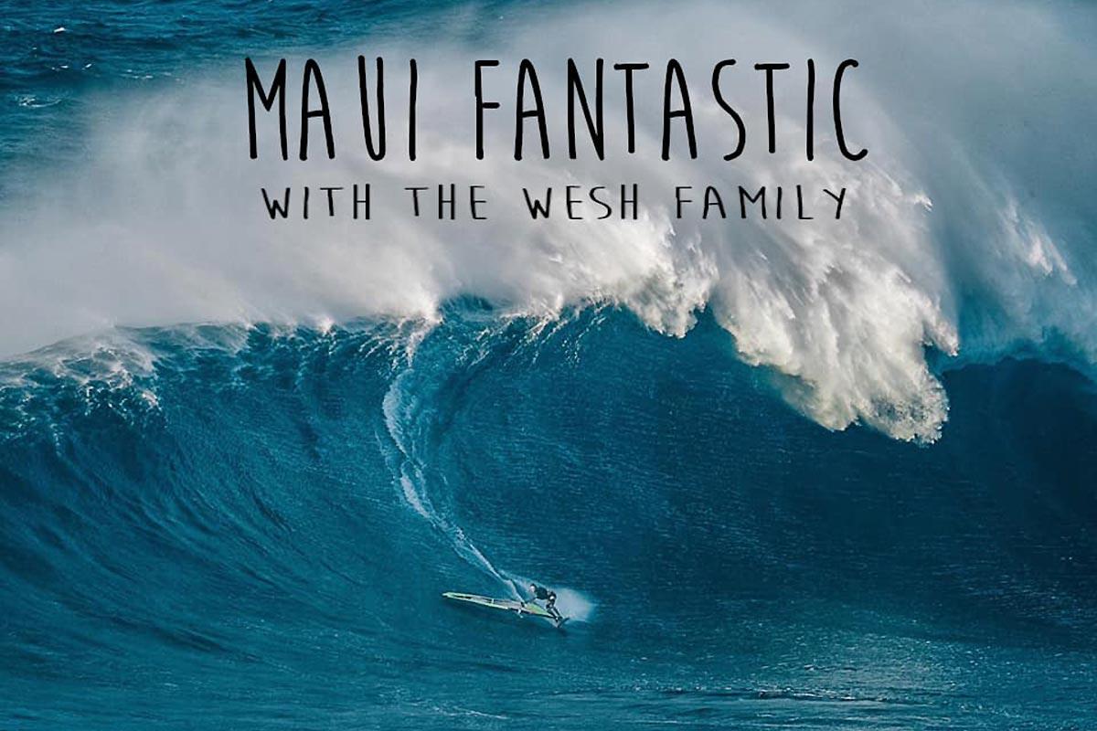 Captain Wesh et sa famille à Maui