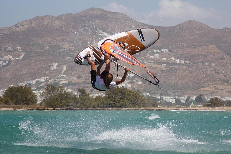 Loïck Spicher en action à Naxos