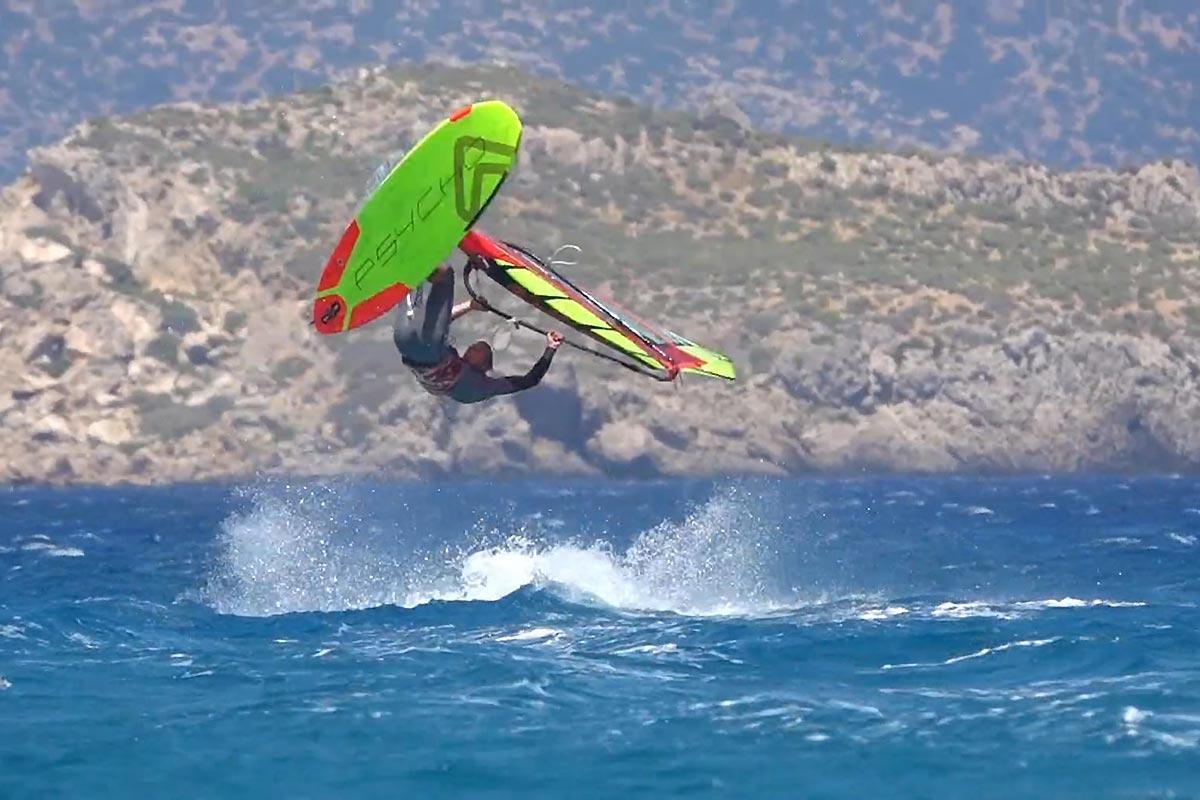 Meiky Wieczorek en action à Karpathos