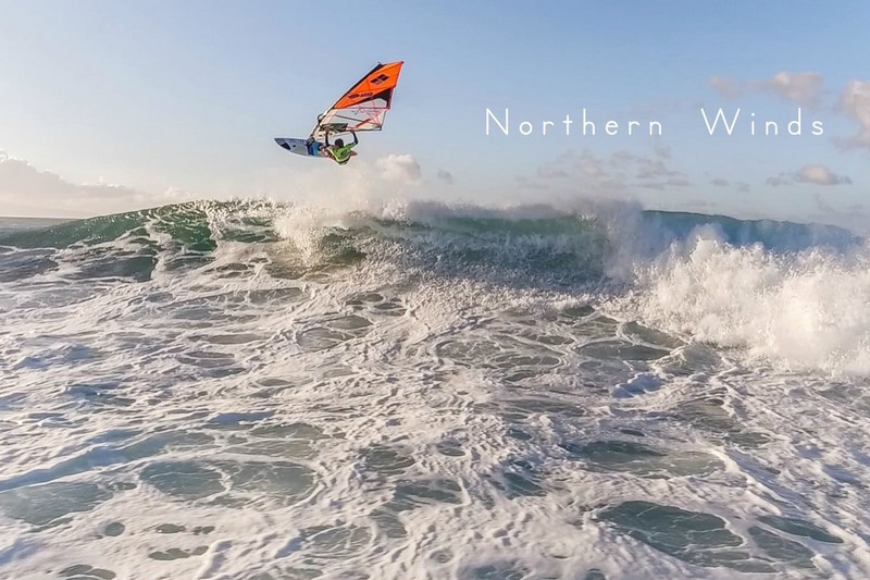 Northern Winds - Windsurfing by a drone