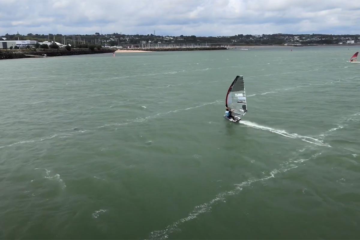 Du windfoil en rade de Brest avec Oël Pouliquen
