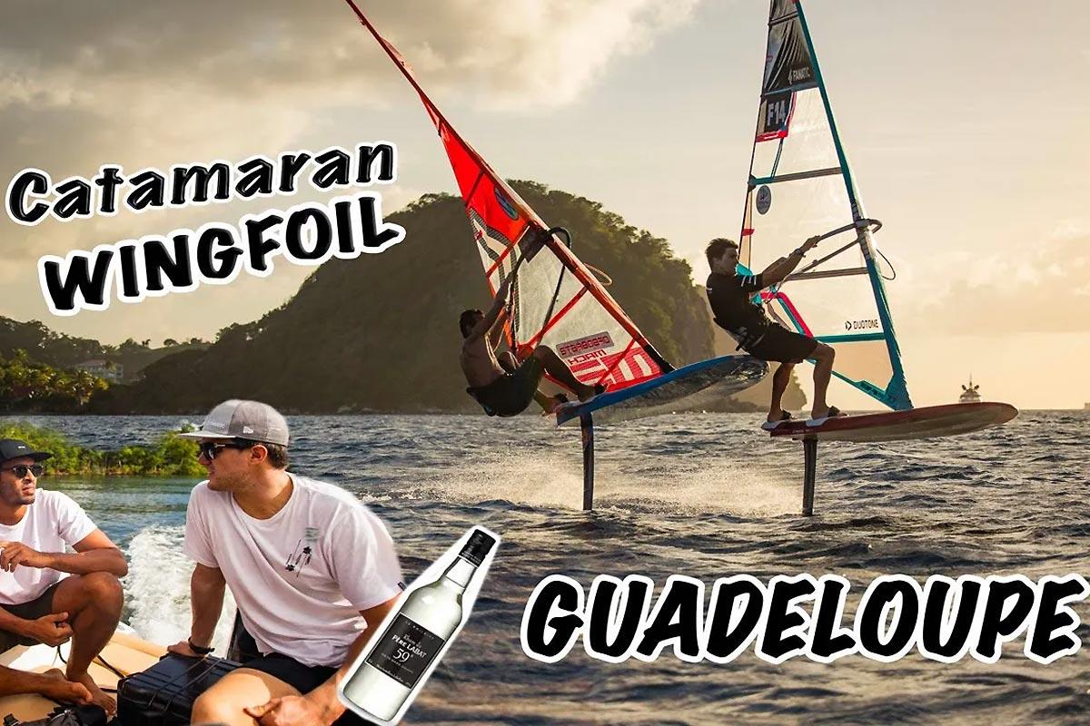 Pierre Mortefon et Tristan Algret en Guadeloupe