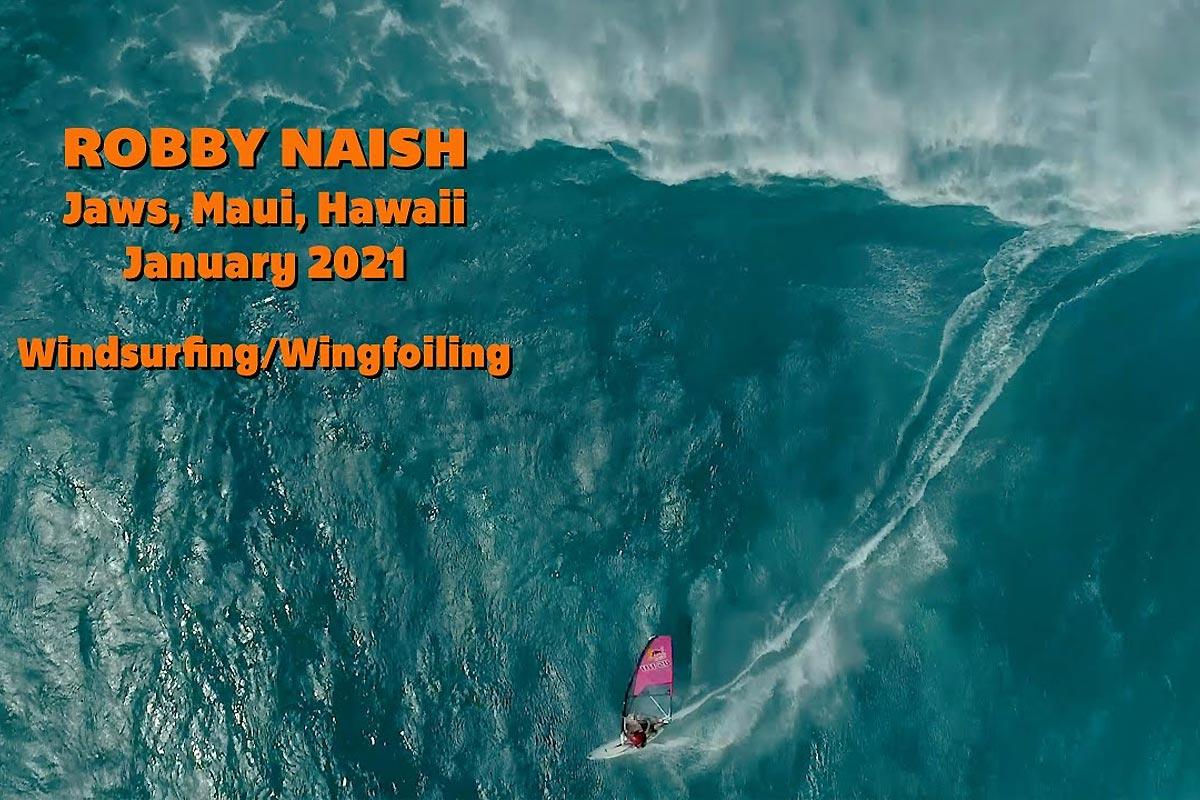Le 16 janvier sportif de Robby Naish à Maui !