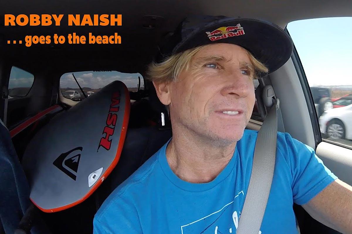 Quand Robby Naish va à la plage