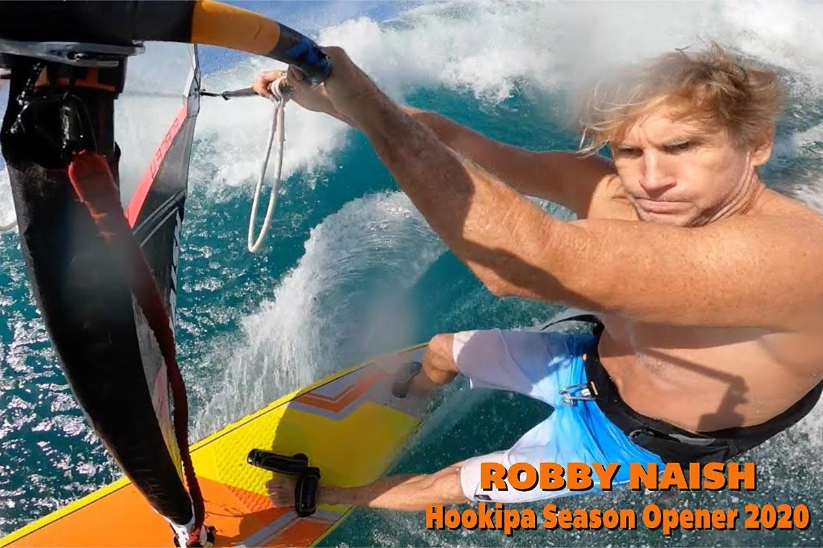 Une session à Hookipa et Lanes avec Robby Naish