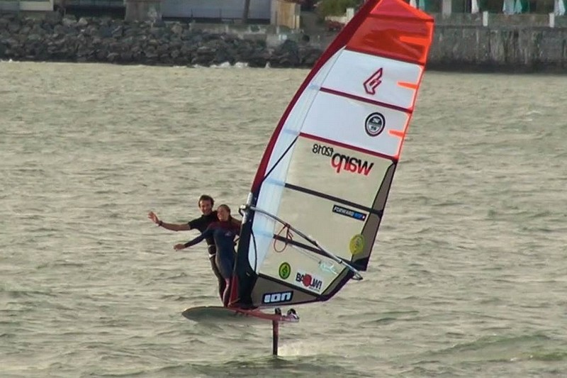 Thomas Goyard en windfoil tandem !