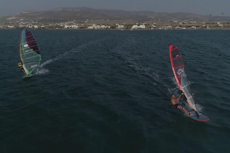 Du slalom et un drone à Paros