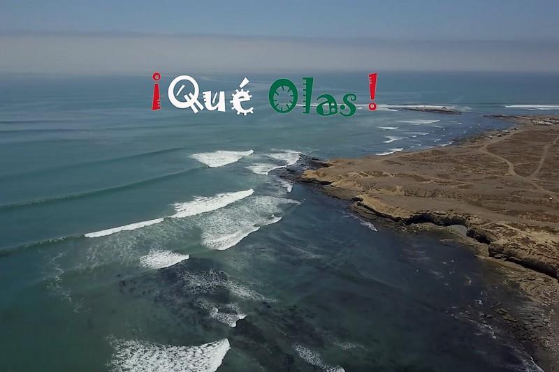 De belles vagues en Baja California