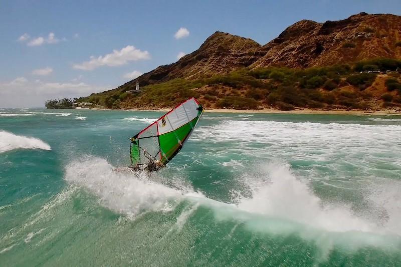 Du windsurf à Diamond Head